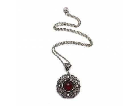 Кулон Безанта серебро (рубин)