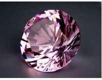 Хрустальный бриллиант. Высшее качество. Розовый