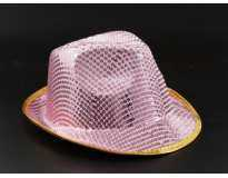 Шляпа / Стразы / Розовая