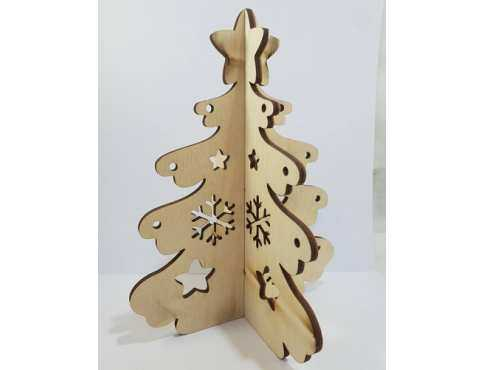 Украшение новогоднее Елочка  объемная со снежинками дерево