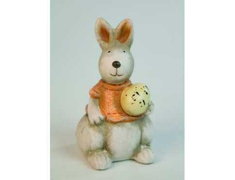 Фигурка керамическая пасхальная Зайчишка и Яйцо