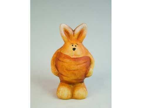 Фигурка керамическая Зайчишка Морква