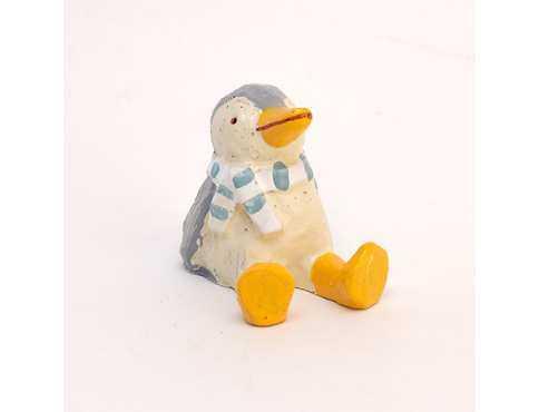 Фигурка мини Пингвин в Шарфике Сидит