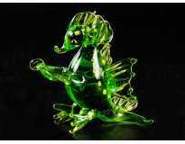 Фигурка стеклянная Дракончик Зеленый