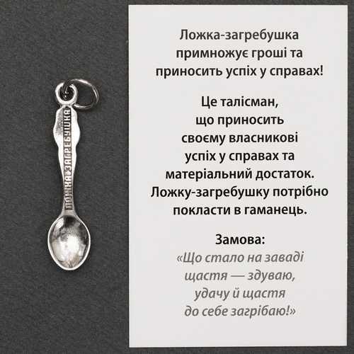 Ложка-загребушка сувенир в подарок 67