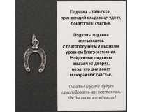 Подкова Счастья / Серебрение / Оберег в Кошелёк