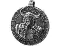 Бог Один / Амулет Викинг / Серебрение