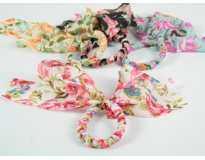 Резинка для волос Бантик Цветы крупные 6 цветов