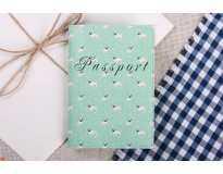 Обложка на паспорт Мопсы  Экокожа