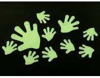 Наклейки светящиеся Рука / Big / 10 шт