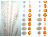 Занавеска на дверь / Пластик Кружок граненый Оранжевый